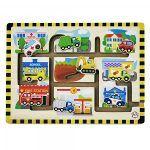 Mainan, Anak, Bayi, Kayu, Edukatif, Kayu, Kecil, Riang, Toys, PT, Maksen, Abadi, Surabaya, Big, Picture, Puzzle, Car, Transpotation