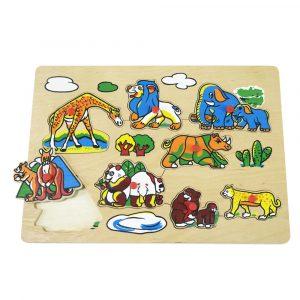 mainanMainan, Anak, Bayi, Kayu, Edukatif, Kayu, Kecil, Riang, Toys, PT, Maksen, Abadi, Surabaya, Big, Picture, Puzzle, Jungle, knob