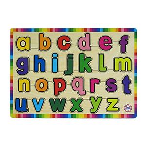 mainan kayu puzzle abc kecil