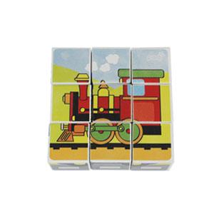 mainan kayu 6 in 1 block puzzle kereta