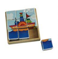 mainan kayu 6 in 1 block puzzle transportasi