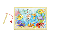 Mainan Kayu, Kayu, Mainan Anak kayu, Anak, Puzzle, Ocean , Fishing Puzzle