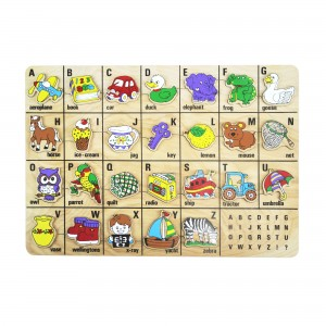 Mainan Kayu Puzzle Name of Thing